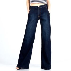 Banana Republic Classic Wide Leg dark wash jeans